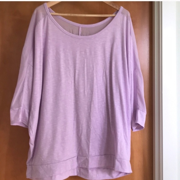 3847547434a Lane Bryant Tops - Lane Bryant lilac top. Sheer details. 3x 22 24